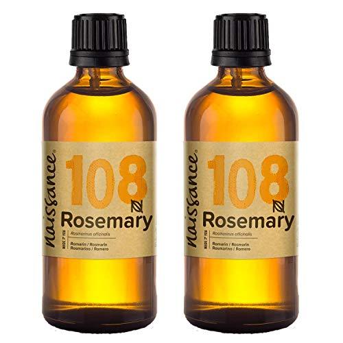 Naissance Aceite Esencial de Romero n. º 108 – 200ml (2x100ml) - 100% Puro, vegano y no OGM