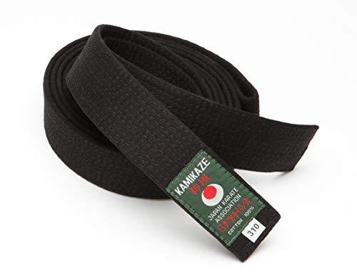 Kamikaze - Cinturón de piqué (290 cm), color negro