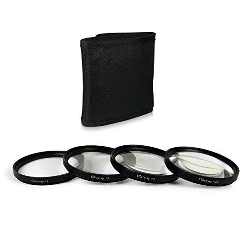 58mm Close up Macro +1 +2 +4 +10 Pack de filtros Compatible con Canon EOS 1DX, 5D Mark II, 5D Mark III, 5D, 6D, 7D, 10D, 30D, 40D, 60D, 70D, 100D, 1100D, 1200D