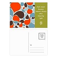 カラフルな水の滴 詩のポストカードセットサンクスカード郵送側20個