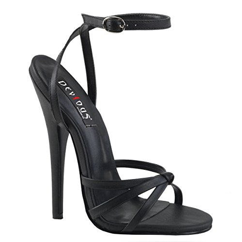 Higher-Heels PleaserUSA Damen Sandaletten Domina-108 Mattschwarz Gr. 38,5