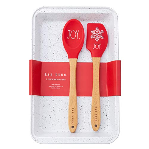 Rae Dunn Collection 3 Piece Holiday Baking Set with Baking Pan- by Cook with Color