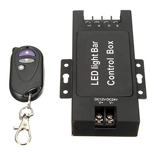 BianchiPamela LED Light Bar Battery Control Box with Remote Flash Strobe Controller 7 Modes