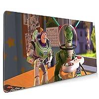マウスパッド 大型 ゲーミング最適 トイストーリーレックス3 おしゃれ かわいい 滑り止めゴム底 付着力が強い 耐久性が良 90x40x0.3cm