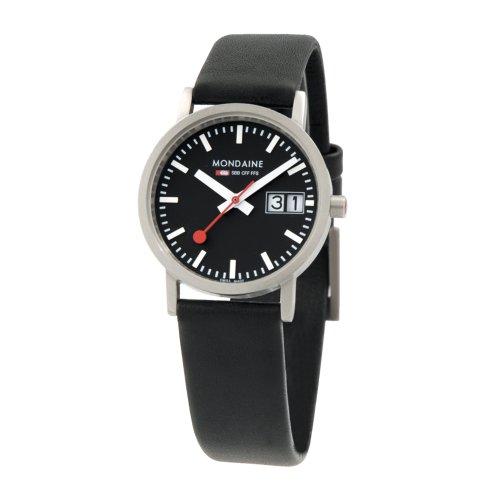 Mondaine Swiss Watch dameshorloge Classic Ladies analoog leer zwart A6693032314SBB