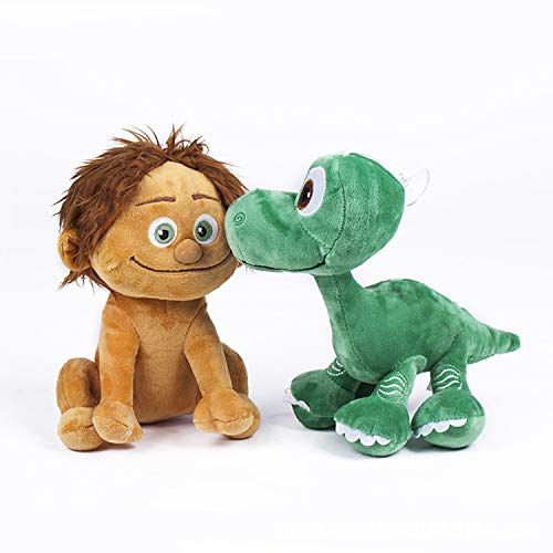 The Good Dinosaur Plush Toy-Pack 2 Quality Super Soft - Spot The Child 8'/22CM + Arlo Baby 8'/22CM