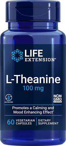 L-Theanine, 100 mg 60 ベジタリアン 粒カプセル 海外直送