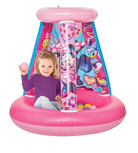 Minnie Mouse Kids Ball Pit, 1 Inflatable & 15 Soft-Flex Balls