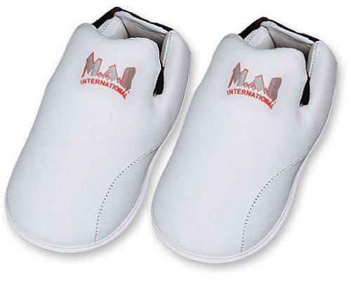 M.A.R International Ltd. Elite Fußschoner für Kampfsport, Karate, Taekwondo, Boxen, Kickboxen, Thaiboxen, MMA, Muay Thai, Weiß, für Kinder
