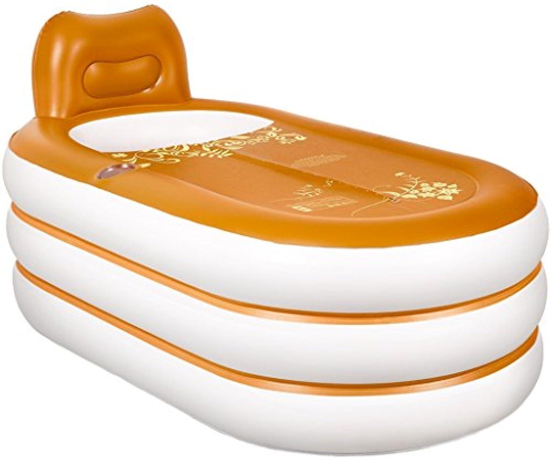 AJZGF Europische Stil zu Hause Aufblasbare Badewanne Erwachsene Falten Kunststoff Badewanne Waschbecken Badewanne zu Halten Warm (mit Elektrische Pumpe und handpumpe) Badewanne