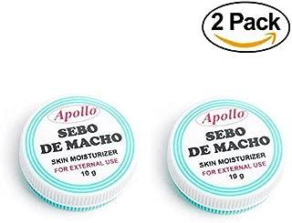 Apollo Sebo de Macho Skin Moisturizer 2-Pack (2 x 10g) Made from mutton's tallow (sheep's fat).