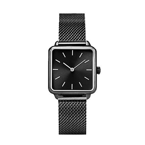 yuge Reloj de pulsera Zegarek Damski negro de cuarzo para mujer
