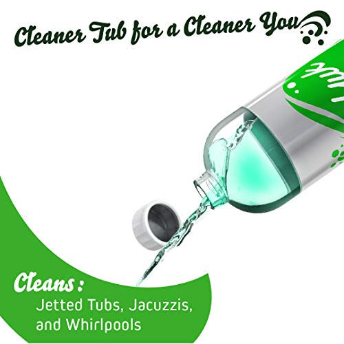 Oh Yuk Jetted Tub Cleaner for Jacuzzis, Bathtubs, Whirlpools, The Most Effective Jetted Tub Cleaner, Septic Safe, 4 Cleanings per Bottle - 16 Ounces