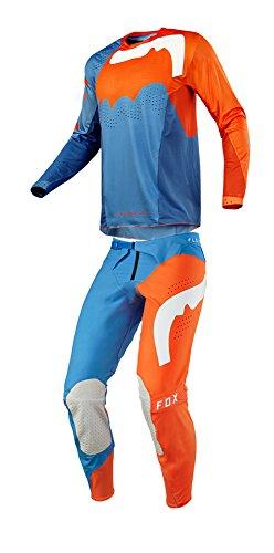 Fox Racing 2018 Flexair Hifeye Combo Jersey Hose Herren ATV MX Offroad Dirtbike Motocross Reitausrüstung Orange