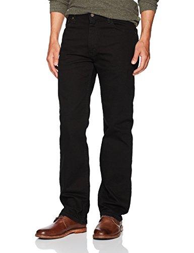 Wrangler Authentics Men's Regular Fit Comfort Flex Waist Jean, Black, 34W x 29L
