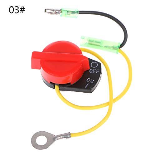 FangWWW Interrupteur de puissance du moteur - Arrêt marche/arrêt - Compatible avec Honda GX110 GX120 GX160 GX200 GX240