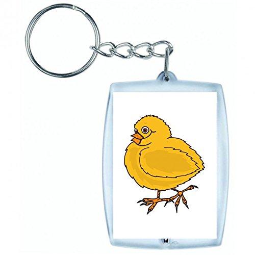 Druckerlebnis24 Schlüsselanhänger - Baby- Vogel- Huhn- Küken- Gelb- Federn- Flügel- Häuslich- Hühner- Klein- Wenig- Neugeborene- Nachkommen - Keyring - Taschenanhänger - Schlüsselring