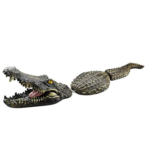 LRWEY Floating Detailed Crocodile Head for a Pond or Water Feature in the Garden Floating Crocodile/alligator Garden Pond Water Feature Ornament Heron Scarer for Ponds 31.49 x 5.51 x 4.7 inch