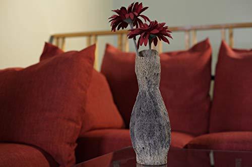 VASO artigianale in legno realizzato a mano con fibra legnosa di fico d'india,Opuntia Vase