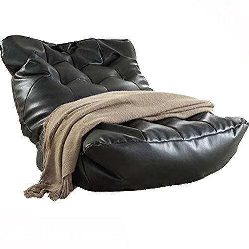 JJZXD Leder Sitzsack Sofa Lounge Stuhlbezug No Filler Folding Lazy Schlafsofa Office Recliner Couch Bodensitz Tatami