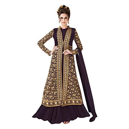 SHRI BALAJI SILK & COTTON SAREE EMPORIUM Indische Bollywood-Kollektion Salwar Kameez-Kleid Stilvoller Schwerer Anarkali mit Sequenzarbeit...