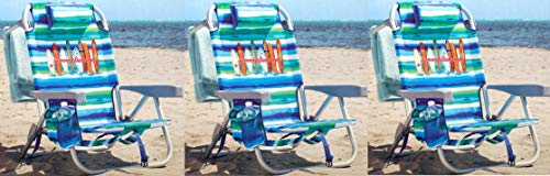 Tommy Bahama 3 Pack Backpack Beach Chair Tropical Stripe with Surf Boards Logo