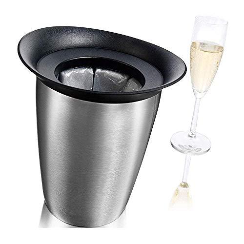 Guuisad Party Ice Eimer, Eiskübel, Kurzkühlung Champagner, Einzelflasche EIS Eimer, Tragbarer Eiskühlerkühler, für Wein-Champagner Bier Partybar-Werkzeuge