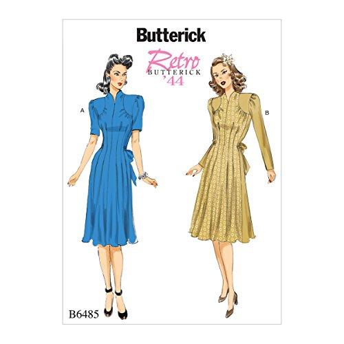 Butterick Patterns 6485A5Misses Kleid Schnittmuster, Mehrfarbig, Größen 6–14