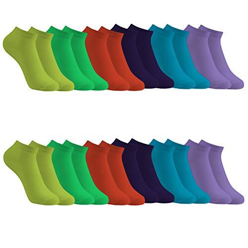 Caudblor 12 Pares Show calcetines de corte bajo de algodón para hombres y mujeres,...
