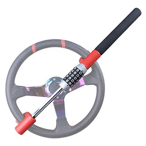 OKLEAD Universal Keyless Steering Wheel Lock 5 Password Coded Twin Hook Lock