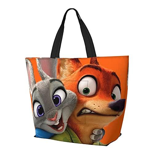 Crazy An-imal City Bolsa de hombro de conejo rojo zorro bolso multifuncional de gran capacidad bolso de la tableta bolsas de semana bolsa de viaje bolsa de playa