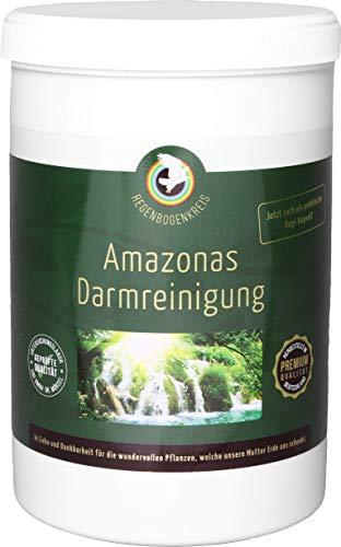 Regenbogenkreis Amazonas Darmreinigung, 420 Kapseln, mit pflanzlichen Ballaststoffen, natürlichem Vitamin C und sekundären Pflanzenstoffen, leicht zuhause durchführbar, vegan