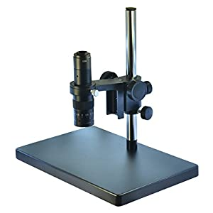 Metal Boom Stereo Microscope Camera Table Stand Holder 50mm Ring +180X Zoon C-Mount Lens (180X...