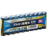LAZOS 単3アルカリ乾電池60本セット(10本入×6パック) B-LA-T3X10