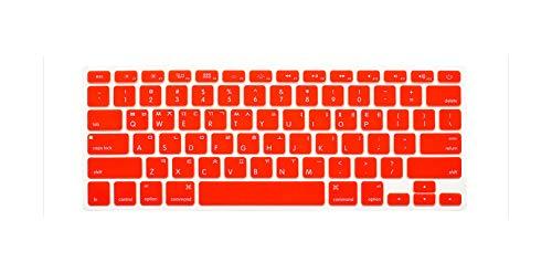 Cubierta para teclado para MacBook Air 13 Mac Pro 13 15 17 Retina Rainbow teclado cubierta para teclado Us versión naranja