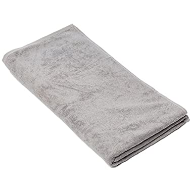 SALBAKOS Luxury Spa 100% Combed Turkish Cotton Large Oversized Eco-Friendly Bath Sheet 40 x 80 Inch, Silver