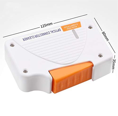 Fiber Optic Connector Clean Box FTTH Werkzeuge für SC, FC, LC, Reiniger, D4, DIN (weiß)