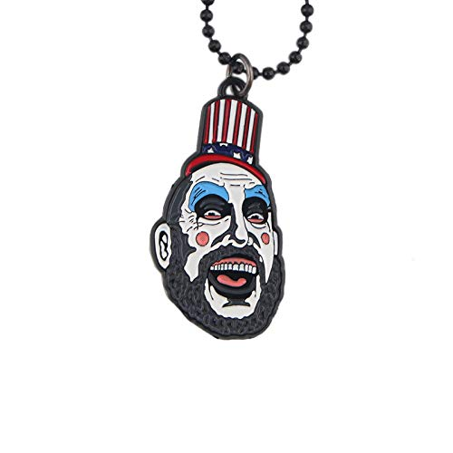 guodong Horrorfilm Haus Der 1000 Leichen Clown Coole Anhänger Halsketten Metall Anhänger Halskette Fans Halloween Herrenschmuck Geschenke