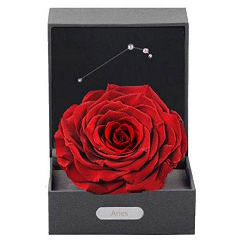 LHY- Konservierte Rose Konservierter Blumenkopf, der durch Glaskuppel als Geschenke for Mothers'Day Weihnachten bedeckt Wird Mode (Color : A)