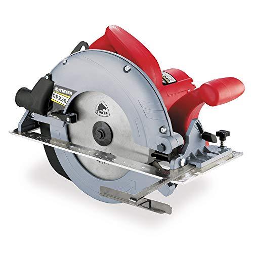 Stayer 1.5916 Sierra circular PROFESIONAL de gran potencia, Ø235mm CP 236, Roja...