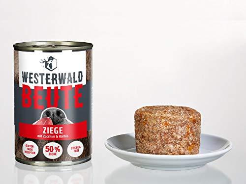 Westerwald-Beute Ziege mit Zucchini & Kürbis – 12x400g Dose im Sparpack