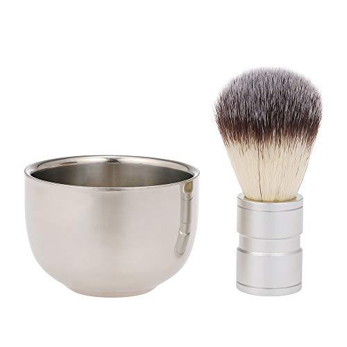 Anself Kit de afeitado Los Hombres Cuencos de Jabón y Cepillo de Barba