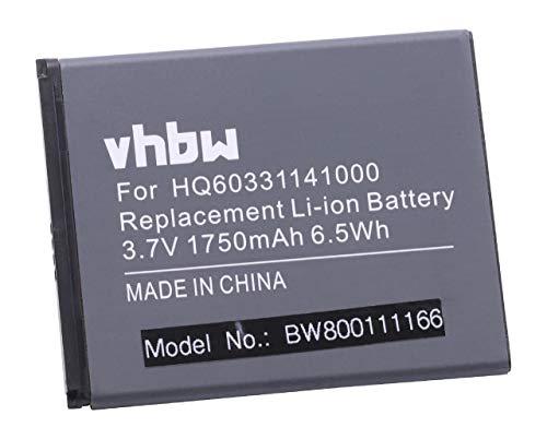 vhbw Li-Ion Akku 1750mAh (3.7V) für Handy Smartphone Handy HTC Desire 526, 526+ Dual SIM wie BOPL4100, HQ60331141000.