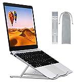 Babacom Laptop-Ständer, Aluminium, belüftet, kühlend, ergonomisch, verstellbar, für Dell XPS, HP, weitere 10-15,6 Zoll Laptops, Tablets