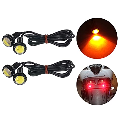 TABEN - Lot de 2 ampoules LED de 23 mm - lumière blanche - ampoules de haute puissance en forme d'œil d'aigle pour voiture, 9 W - feux de circulation diurnes, feux arrières, feux de stationnement, feux de marche arrière,12 V