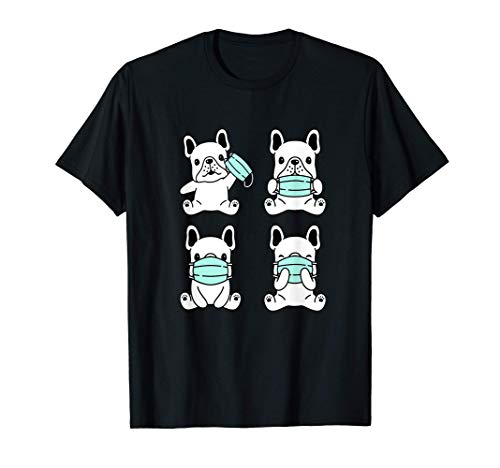 Dog Medical Face Mask French Bulldog Pet Breed Bulldog Gift T-Shirt