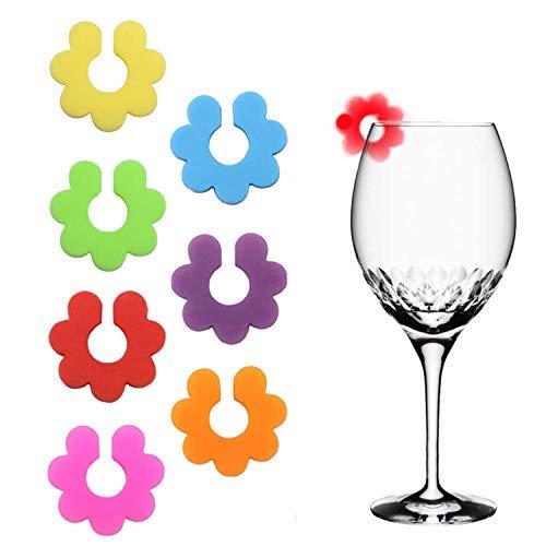 qipuneky Glasmarkierer, 14 Stück für Party/Bar/Tischdekorationen, Heimgebrauch - Silikon