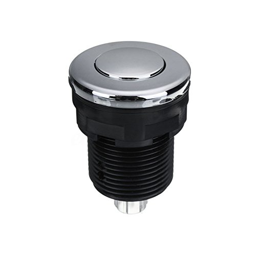 28/32/34mm Luftdruck Schalter Druckknopf für Wanne Spa Massage Waschbecken Müll Abfall Verfügung - Schwarz, 34mm