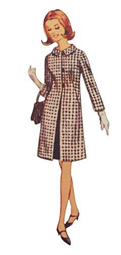 フランス製 木製ボタン (ブラウンコートの女性) アトリエ・ボヌール・ドゥ・ジュール ABDJ019