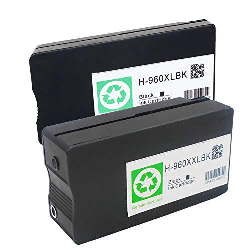 SXCD Cartucho de tinta remanufacturado 960, repuesto para impresora HP Officejet Pro 3610 3620 cartuchos de tinta compatibles negro (XL y XXL) 960XL 960XXL